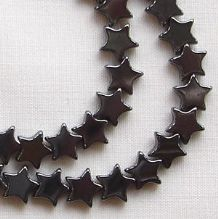 Heametite 6mm Star Beads - 1 String